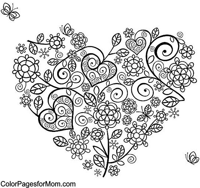Hearts Coloring Page 24