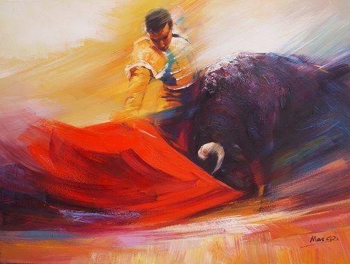 Peinture d'un Matador