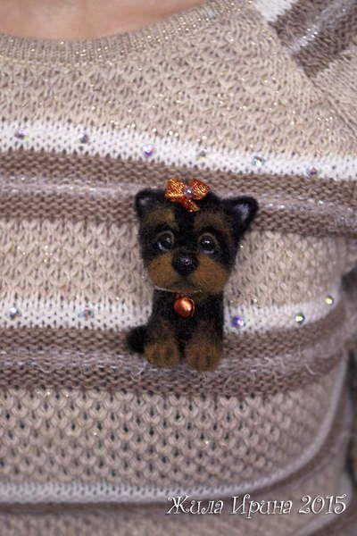 York puppy - brooch by By Zhila Irina | Bear Pile