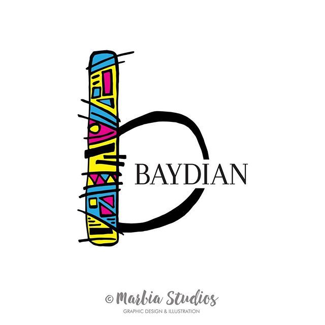 I recently finished this fun colourful bold Logo design for @baydian who sell fun colourful scarfs. What do you think of it?