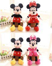 1 szt 30CM Myszka Miki i Myszka Minnie Wypchane pluszowe Lalki Mickey Minnie pluszowe zabawki (Chiny (kontynentalne))