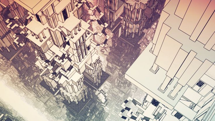 (Manifold Garden) Towering structures that create awe/mystery rather than utilitarian domination. Insane use of repetition one can use to create beauty. Can also disorient the player so be careful how and when you use it.