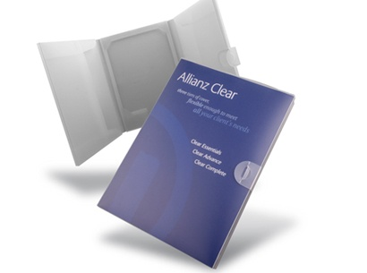 Allianz A4 Polypropylene Folder - a creative packaging solution produced by Cedar Packaging