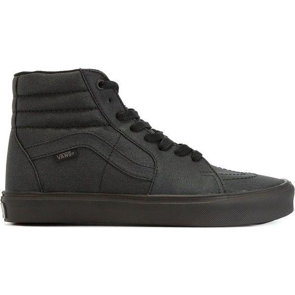 Vans High-Top Skater Sneakers ($87) ❤ liked on Polyvore featuring shoes, sneakers, black, high top shoes, black sneakers, vans high tops, black hi tops et skate sneakers