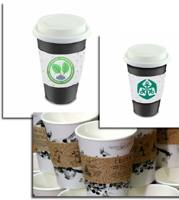 Seeded paper cup sleeves