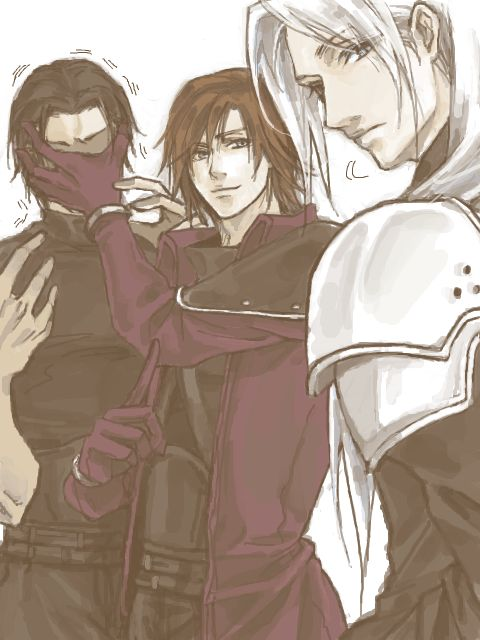 Angeal, Genesis, and Sephiroth
