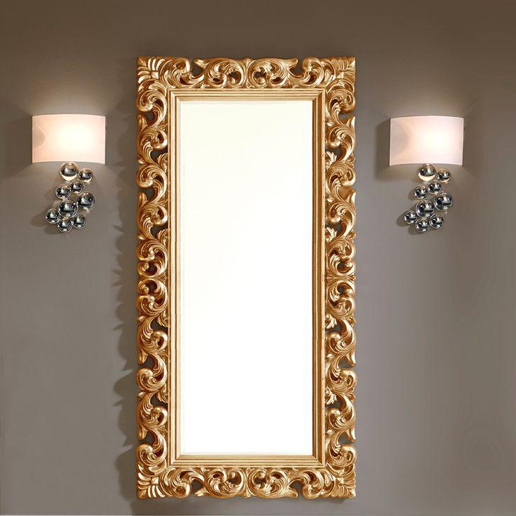 Miroir design dino disponible en gris argent ou or laqu for Miroir gris argent