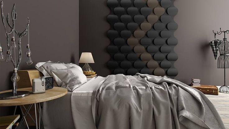 Panele Flow 2.0 w sypialni.