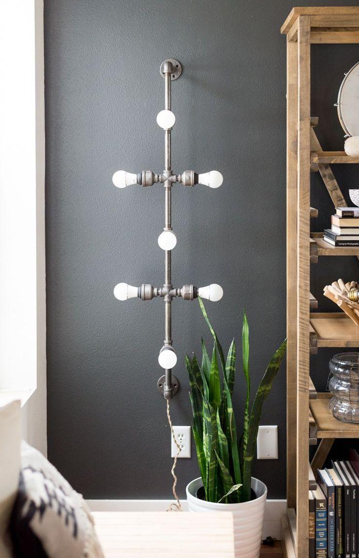 Best 25 pipe lighting ideas on pinterest rustic - Black bathroom lighting fixtures ...