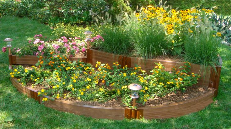 Frame It All Two Inch Series 120in. x 120in. x 16.5in. Composite English Country Garden Raised Garden Bed