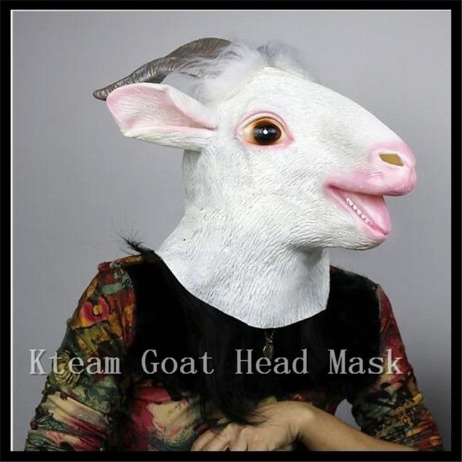 2017 New Arrival Hallowee Party Cosplay Creepy sheep Mask Head Halloween Goat/Sheep Head Latex Animal Mask Party Animal Toy/Prop