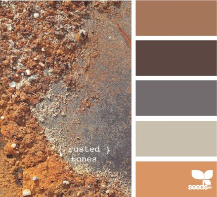 Rusted TonesRust Tone, Earth Tone, Bathroom Colors, Design Seeds, Bedrooms Colors, Living Room, Colors Palettes, Colors Schemes, Master Bedrooms