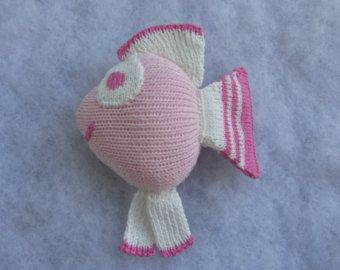 Hand knit fish rattle made of pure cotton. - Edit Listing - Etsy