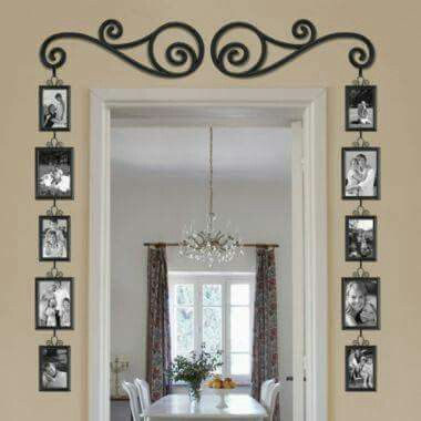 Fotos en marco de puerta