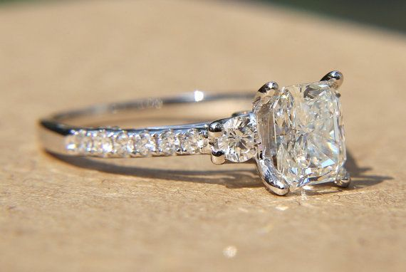 190 carats  RADIANT cut Diamond Engagement Ring  by BeautifulPetra, $7500.00