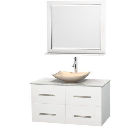 Photo Gallery In Website Wyndham Collection Centra inch Single Bathroom Vanity Matte White Green Glass Countertop