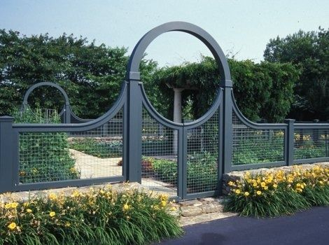 Charming Potager Garden With Very Smart Fencing/gates