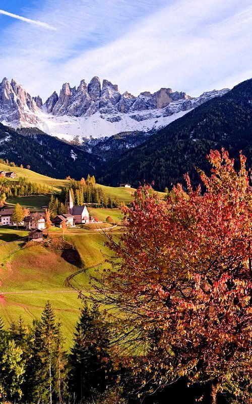 Autumn in Val di Funes, South Tyrol, Italy