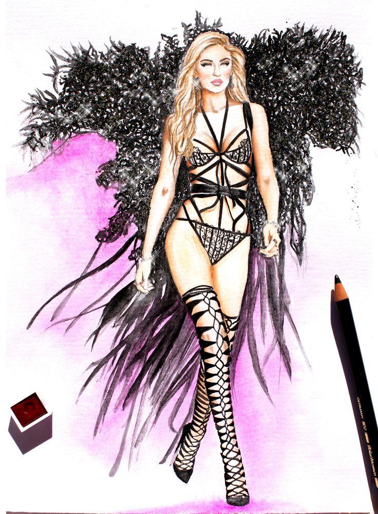 Gigi Hadid for Victoria's Secret,2016 by Nina Mid.