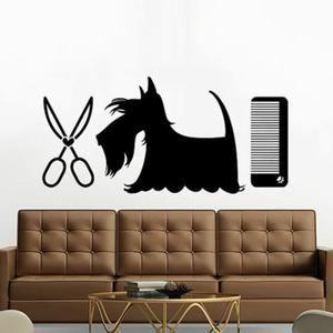Stickers noir chien stickers muraux pour salon de - Stickers muraux pour salon ...