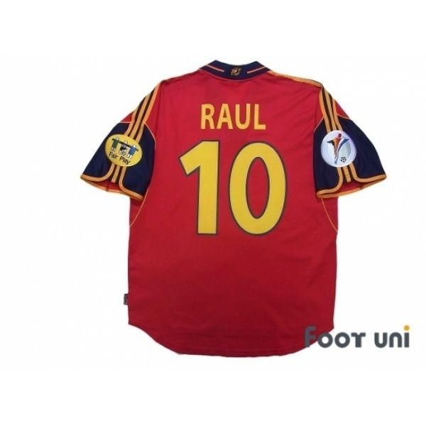 Spain Euro 2000 Home Shirt #10 Raul UEFA Euro 2000 Patch/Badge