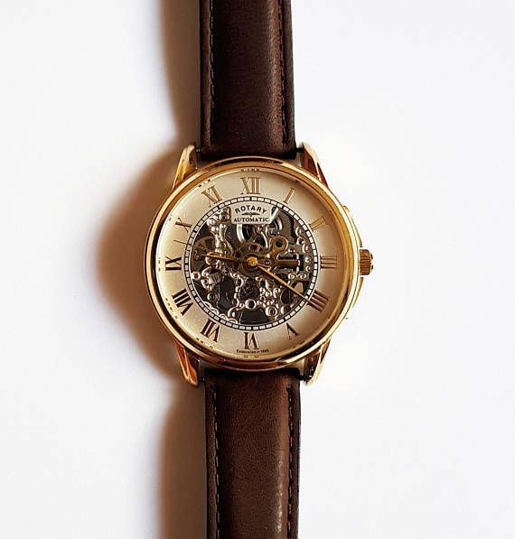Gold Plated Automatic De Luxe Rotary Watch  SelfWinding Watch