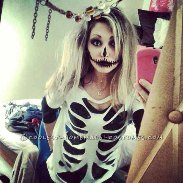 Great home made skeleton top idea