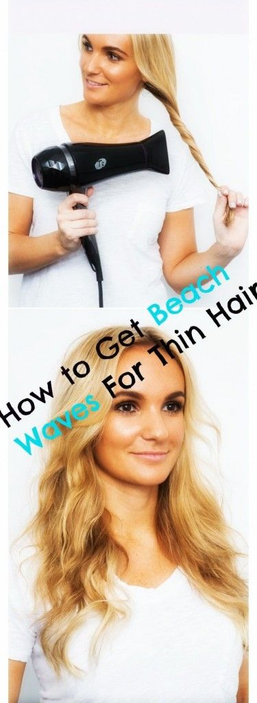 This is THE best ways for girls with thin hair to get sexy, wavy, beach hair! I have the thinnest hair you can imagine and this works for me every single TIME! MUST TRY! REPIN!