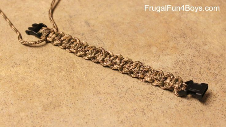 parachute bracelets how to make
