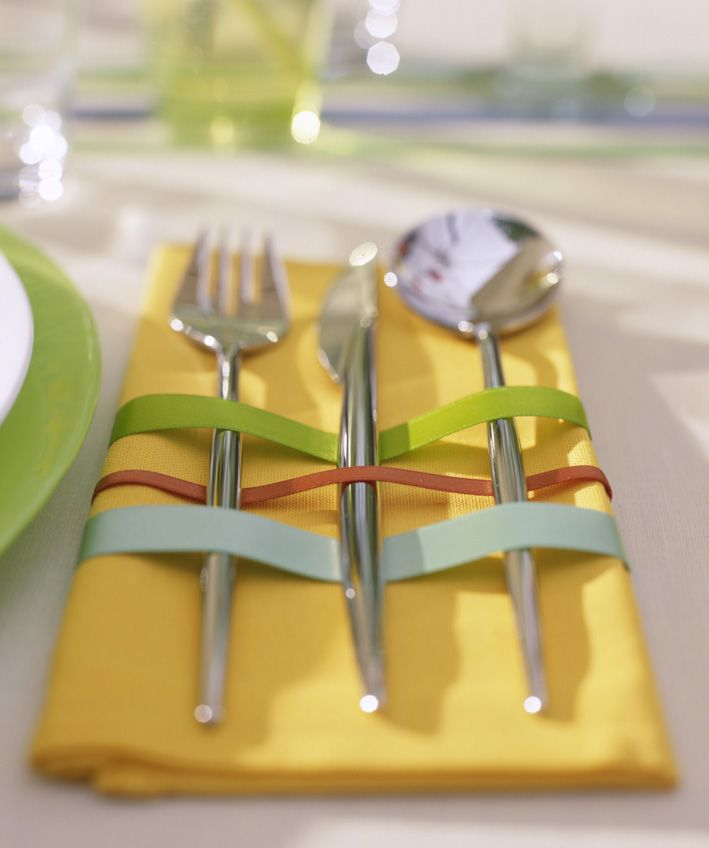 Περιοδικό Έτσι Απλά   Κομψή λεπτομέρεια Easy -art de la table- with ribbons
