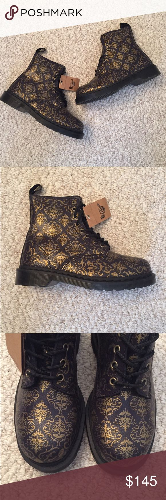 Dr Martens Pascal Baroque Purple Gold *New* Dr Martens baroque crystal suede, purple and gold. Women's size 9 US / 7 UK. New w/tag attached. Smoke free/pet free home. No trades. Thanks! Dr. Martens Shoes Combat & Moto Boots