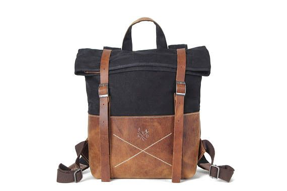 27f9be3d5043 KOVERED| Waxed Canvas Backpack | Backpack | Waxed Canvas Rucksack ...