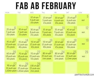 Fun, Fit and Fabulous!: New Fab Ab February Workout!