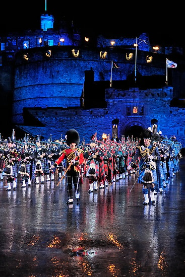 The Edinburgh Military Tattoo outside Edinburgh Castle was amazing