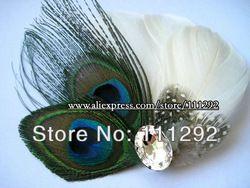 Ucuz  Doğrudan Çin Kaynaklarında Satın Alın: açıklamasıdüğün gelinlik gelinlik tavuskuşu tüyü mücevher saç tokası büyüleyici şey aksesuar