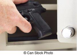 Pessoa, pôr, arma de fogo, arma, cofre