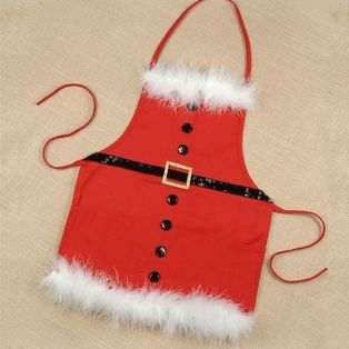Get MaKinzee an apron made to wear each year while we make santa's cookies and reindeer food!