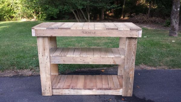 Pallet TV Stand/Entertainment Center Step-by-step Printable PDF Tutorials TV Stand & Rack