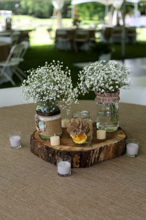 shabby chic centerpieces - brandy's wedding by Blue Box