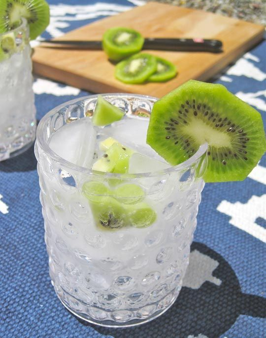 Kiwi vodka tonic - now that sounds lovely and refreshing:  http://www.thekitchn.com/summer-cocktail-recipe-the-kiwi-vodka-tonicthe-10-minute-happy-hour-172477