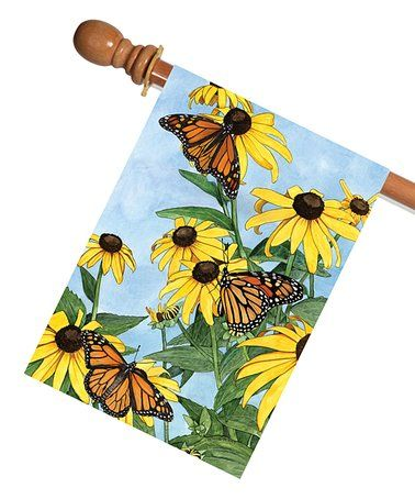 Love this Coneflowers & Monarchs Outdoor Flag on #zulily! #zulilyfinds