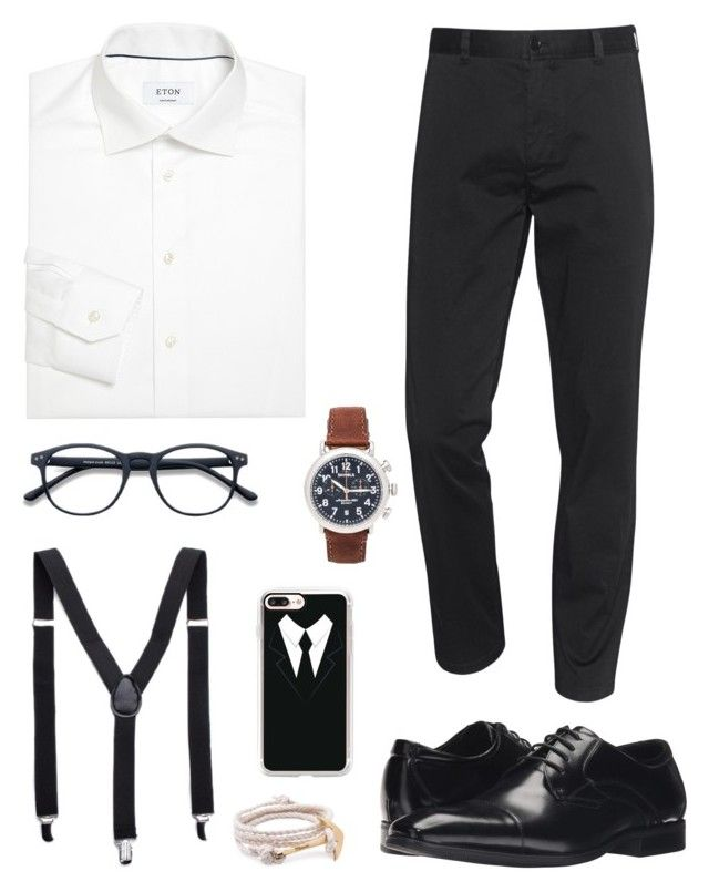 Monochrome Solicitor by chocofit on Polyvore featuring polyvore, ETON, Acne Studios, Stacy Adams, Shinola, Casetify, MIANSAI, men's fashion, menswear and clothing