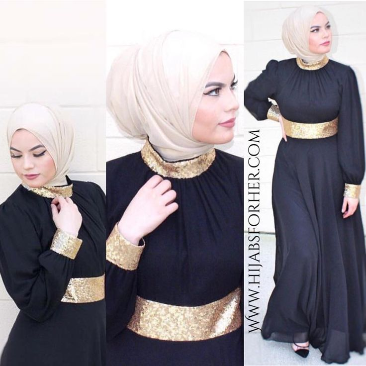 LAYALE Evening Black Chiffon Dress by HFH   Hijabs For Her