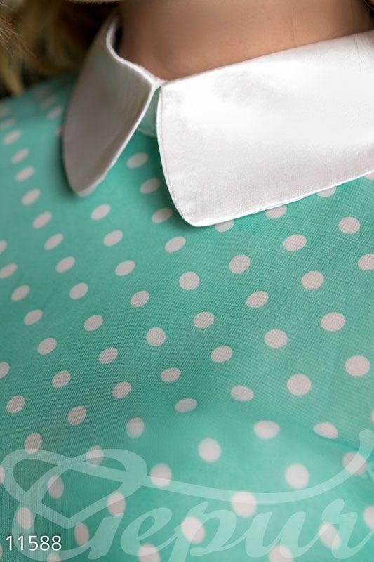 #шифоновая #блузка #с #воротничком #в #горошек #принт #горошек #горох #яркая #деловая #романтичная #шифоновая #шифон #гипюр #гепюр http://gepur.com/