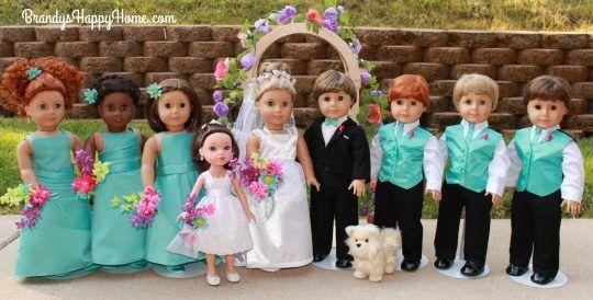 doll wedding party