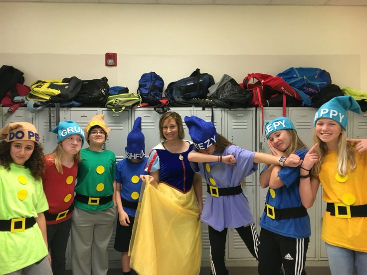 The 7 Dwarves!!! So much fun for spirit week or any costume event.
