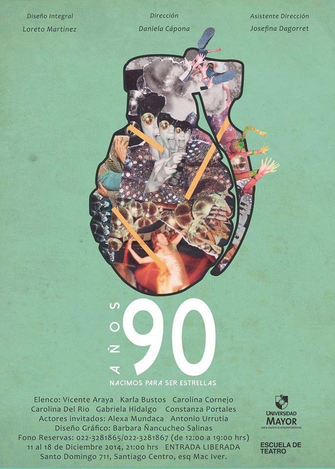 """Preparado el tercer egreso  """"Años 90, nacimos para ser estrellas""""   11 al 18 de diciembre de 2014  21:00hrs.  Santo Domingo 711, esquina Mciver, Santiago centro.  ENTRADA LIBERADA"""