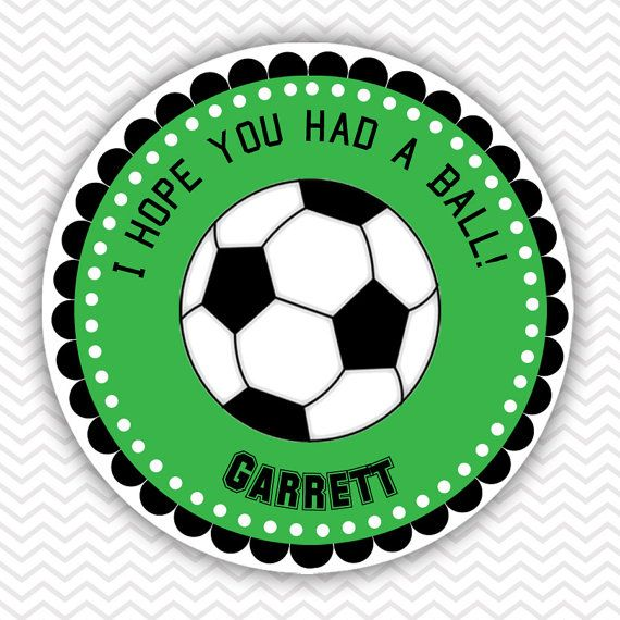 Soccer  - Personalized Stickers, Party Favor Tags, Thank You Tags, Gift Tags, Address labels, Birthday, Baby Shower