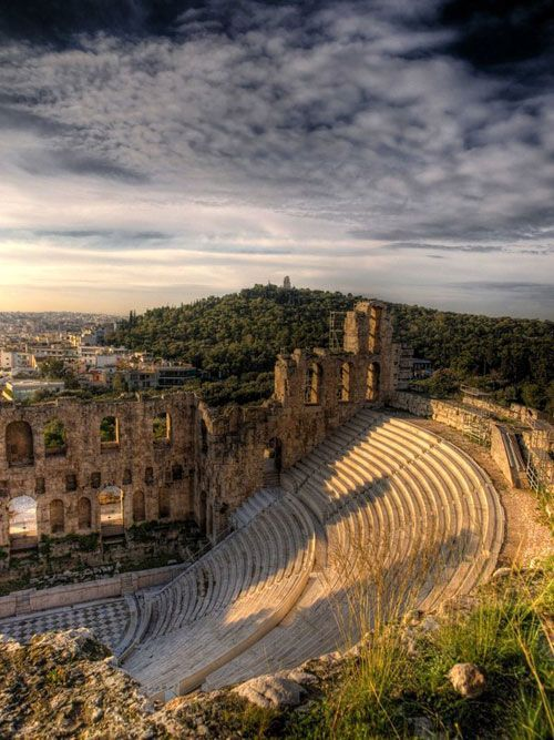 The #Odeon of #Herodes #Atticus is a stone theatre structure located on the south slope of the #Acropolis of #Athens #Greece #greek #tourism #travel #herodion #kitsakis