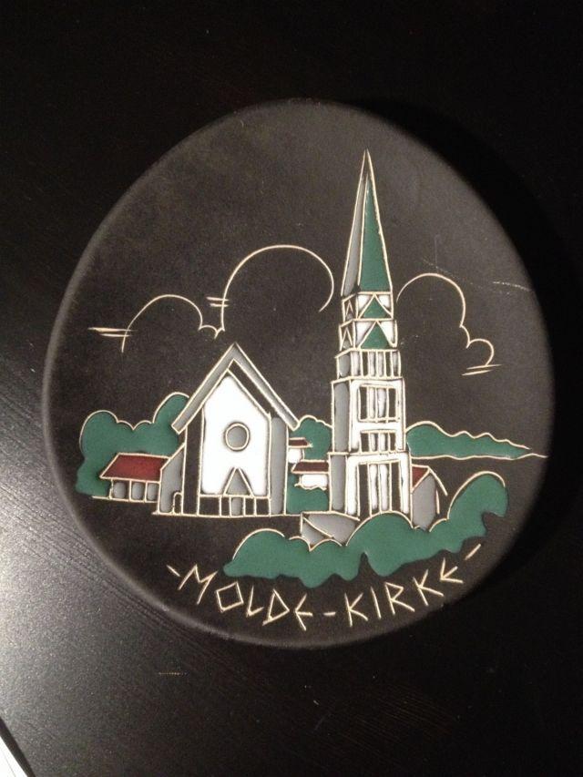 (2) FINN – Platte / minnetallerken fra AROL Halden: Molde kirke
